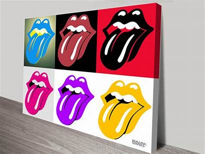 Pop Rolling Stones Canvas Prints Artwork Icons