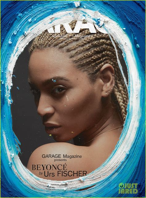 beyonce covers garage magazine   paint added