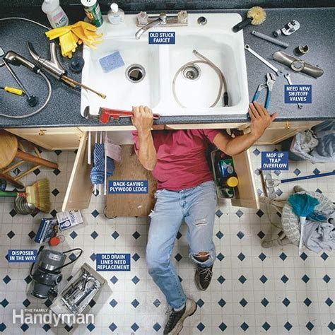 how to replace the kitchen faucet how to replace a kitchen faucet the family handyman