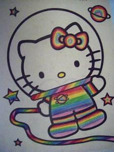 Hello Kitty Trippy Astronaut by Gaylordie on DeviantArt