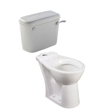 floor level shower coupled toilet pan and cistern 650mm projection