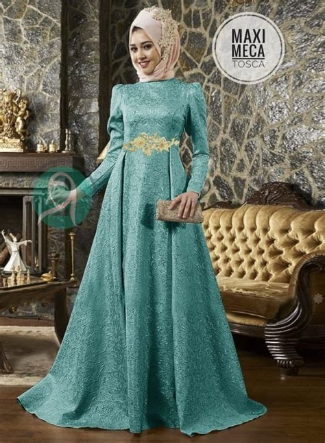 model baju gamis pesta long dress muslim modern ryn fashion
