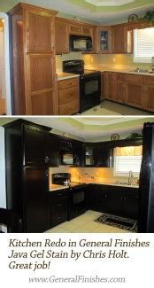 staining kitchen cabinets kitchen makeover with java gel stain general finishes 2462