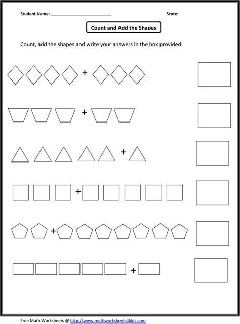 Free Homeschool Math Worksheets Printable