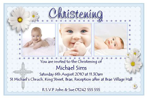 christening invitation card maker software  images