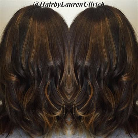 Espresso Hair Color With Caramel Highlights by Best 25 Espresso Hair Color Ideas On