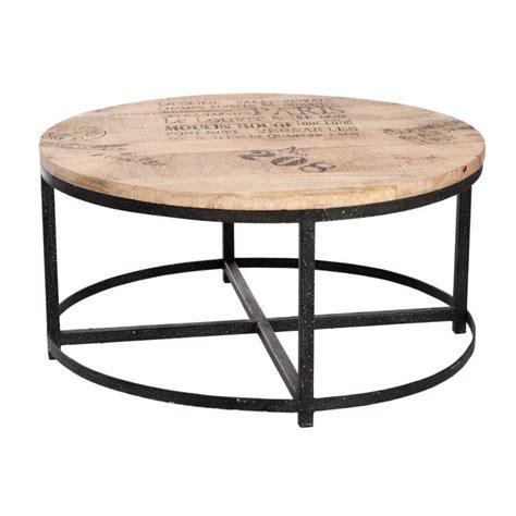 Canapé Loft But - table basse ronde ø 90cm loft table salon bar bois