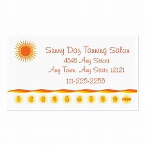 Tanning Salon - Customer Loyalty Punch Card - Business ...