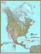 North America Physical Atlas Wall Map | Maps.com