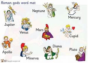 Teacher's Pet - Roman gods word mat - FREE Classroom ...