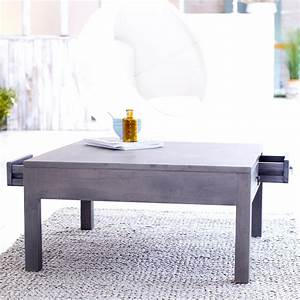 tikamoon solid mindi square coffee table grey paint With square gray wood coffee table