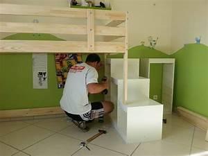 Construire Un Lit Cabane : lit cabane sur une base ikea mydal ~ Melissatoandfro.com Idées de Décoration