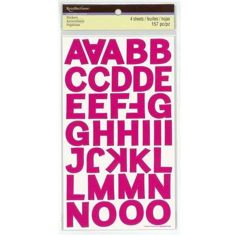 buy  block alphabet number stickers  recollections  michaels