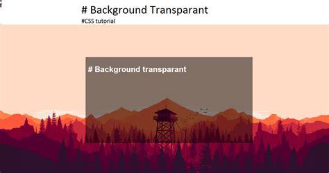 membuat background color transparan