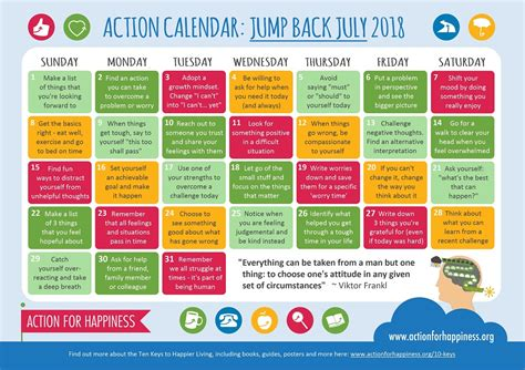 resilience jump july calendar action