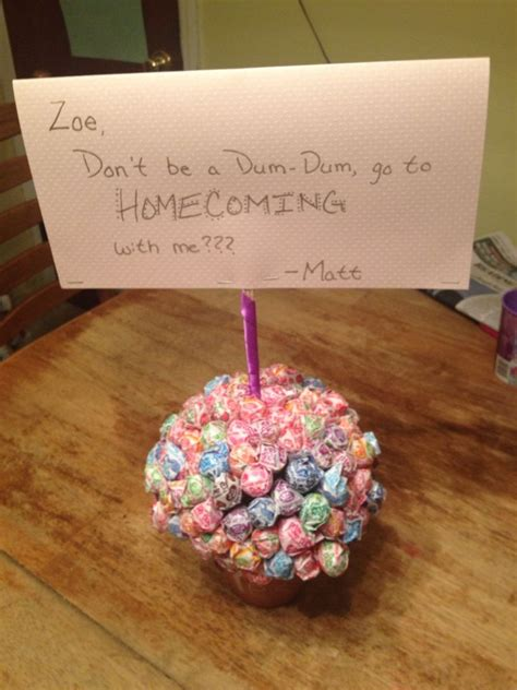 dum dum homecoming proposal arts  crafts