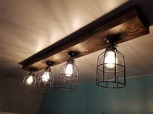 Rustic, Farmhouse, Decor, Ceiling, Light, Cage, Light, Barn
