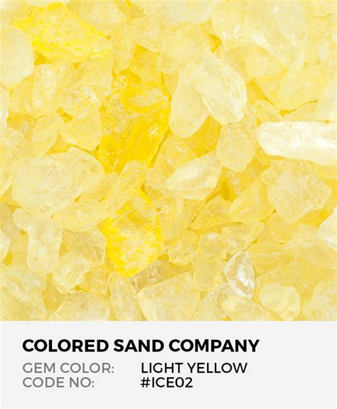 light yellow ice02 colored decorative glass gems