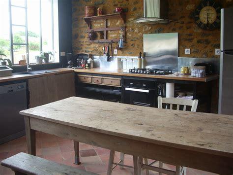 cuisine nouveau la grande table en bois photo de la cuisine gîte quot l