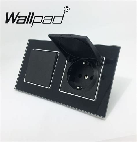 Gang Switch Socket With Cap Wallpad Crystal Glass