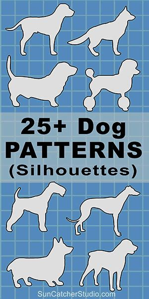 dog patterns stencils  silhouettes  jpg png