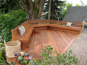benches with backs Deck Traditional with basket bench