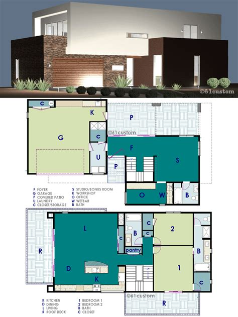 modern home floorplans ultra modern live work house plan 61custom