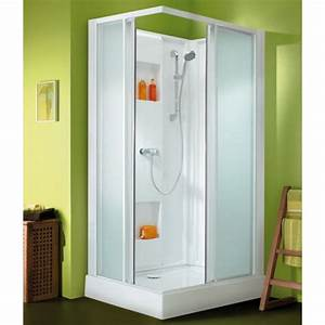 Cabine De Douche 100 X 80 Cm - Acc U00e8s D U0026 39 Angle Par Portes Coulissantes