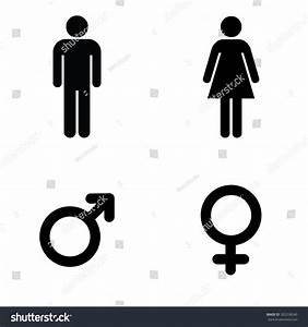 Man lady toilet sign male female stock vector 302258540 for Men and women bathroom symbols