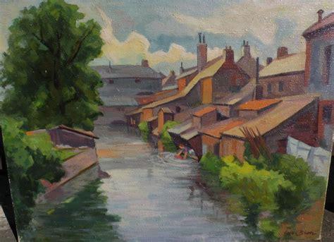 cesar bron  impressionist swiss art oil painting  woman  jbfinearts  ruby lane