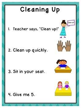 classroom routines  procedures printable posters