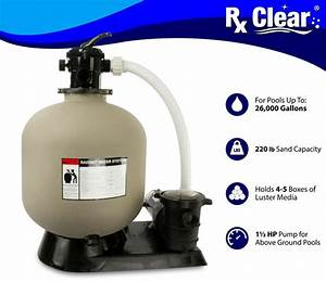 Radiant 22 U0026quot  Inch Above Ground Swimming Pool Sand Filter