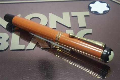 montblanc  coral red  rare vintage fountain