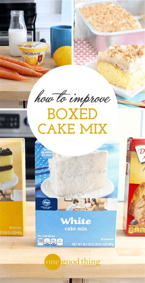turn ordinary boxed cake mix  crave worthy