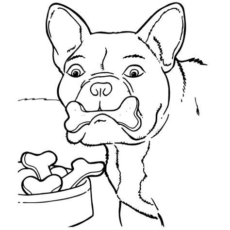Een Kleurplaat Een Hond by Leuk Voor Hond Met Een Botje
