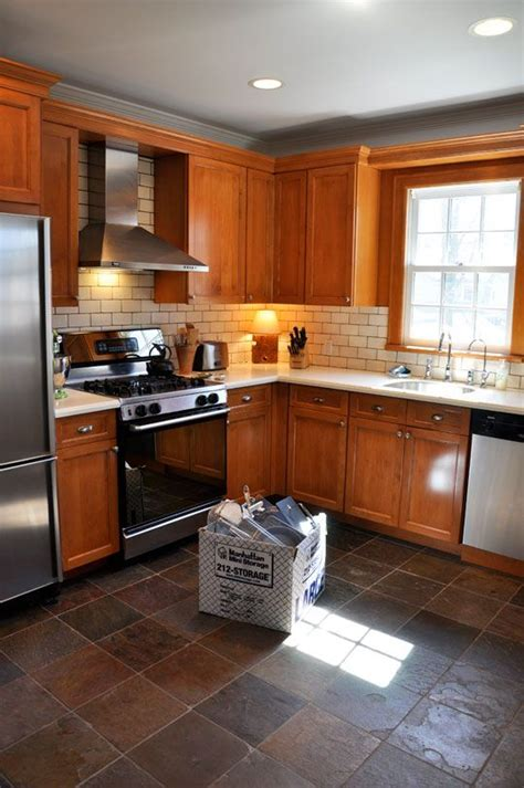 white cabinets floors kitchen summer update the living with less project oak cabinets 1752