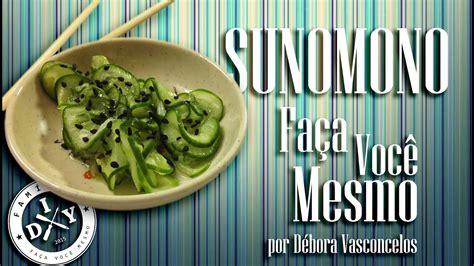 como fazer sunomono familia diy comida japonesa youtube