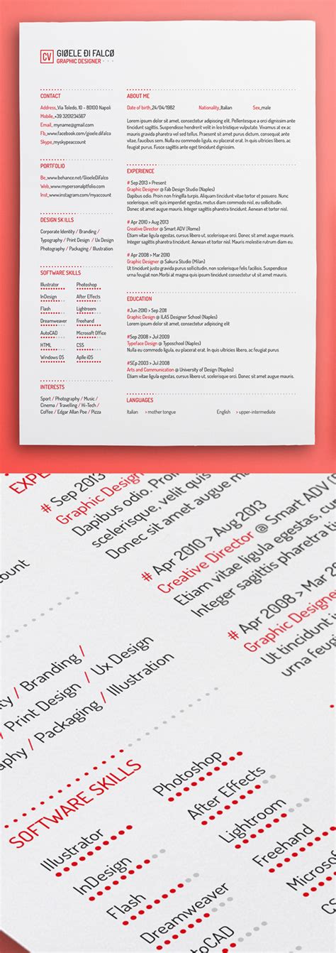 Resume Template Psd 20 Free Cv Resume Templates Psd Mockups Idevie