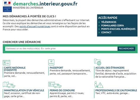 Interieur Gouv Fr Points by Demarches Interieur Gouv Fr Mes D 233 Marches 224 Port 233 E De