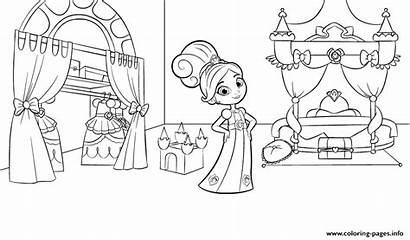 Nella Coloring Princess Knight Bedroom Pages Printable