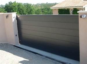 Portail Sur Mesure : portail battant alu sur mesure mecanisme portail ~ Melissatoandfro.com Idées de Décoration