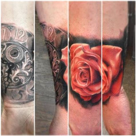 Deep Red Rose Tattoo Ecosia
