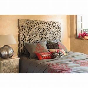 Tete De Lit Maison Du Monde : t te de lit sculpt e en manguier massif l 160 cm maison ~ Melissatoandfro.com Idées de Décoration
