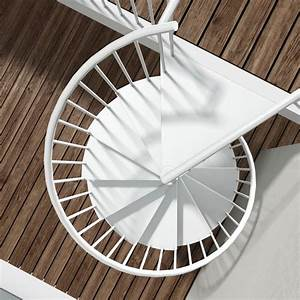 Escalier En Colimaçon : m talis large escalier colima on rond en m tal pour l ~ Mglfilm.com Idées de Décoration