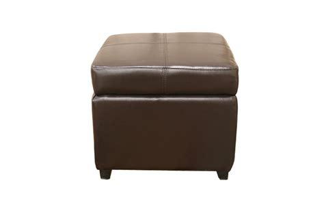 brown leather storage ottoman pandora brown leather small storage ottoman with wood