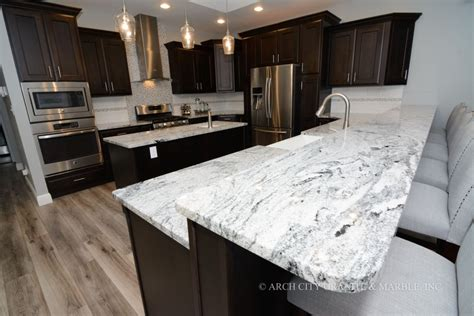 island for kitchen complete guide to white granite countertops arch city