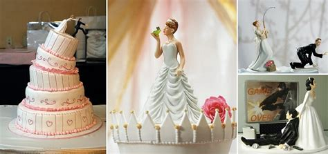 clever  funny wedding cake toppers ideas
