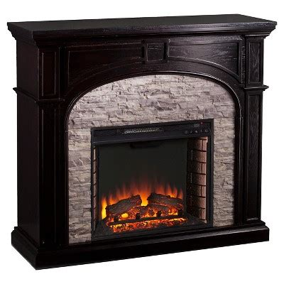 Southern Enterprises  Decorative Fireplace  Black With