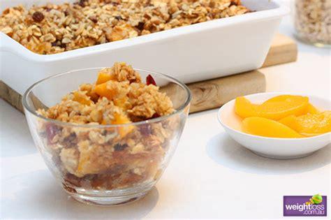 Peach Oat Breakfast Bake