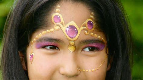 kinder schminken anleitung orientalische prinzessin schminken 1001 nacht prinzessin kinderschminken anleitung